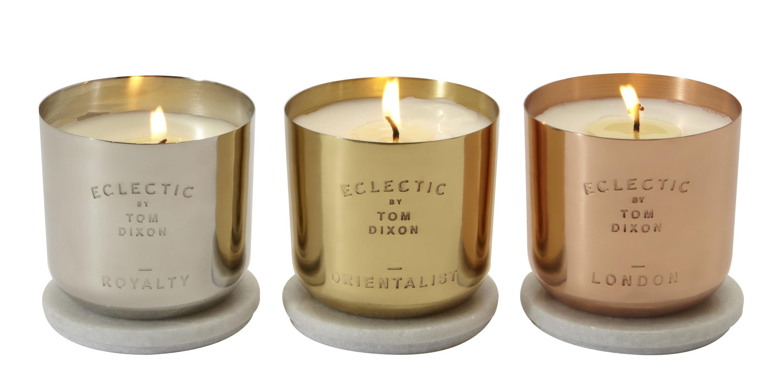 Les bougies parfumées Scent, disponible en Argent, Or ou Cuivre