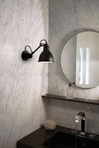 Original design wall light / steel / knuckleboom