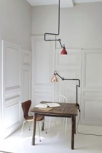 Desk lamp / design / steel / knuckleboom